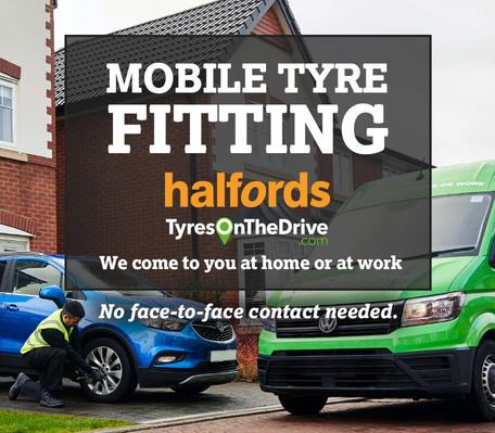Mobile tyre fitting Halfords Tyres On The Drive